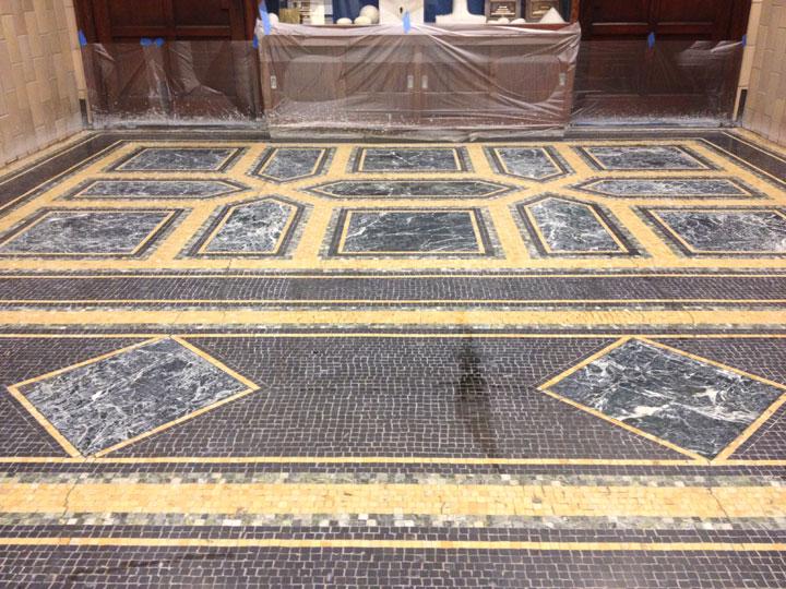Terrazzo Marble And Marble Mosaic Floor Restoration Leet